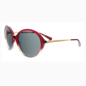 Coach Accessories - Coach Red Round Oversize Sunglasses carriage logo